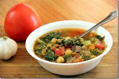 Kale & Veggie Autumn Soup (Vegan and Fat-Free)