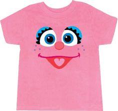 Amazon.com: Sesame Street Abby Cadabby Big Face Light Pink Toddlers T-Shirt: Clothing