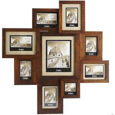 Pier One Collage Frame - Walnut ($90) found on Polyvore