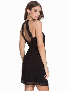 VMLace Back Detail S/L Short Dress