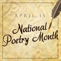 National Poetry Month is the largest literary celebration in the world, with tens of millions of readers marking poetry's important place in our culture and our lives. https://multibra.in/jm9dq www. https://multibra.in/jm9dr