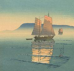 "dappledwithshadow: "" Hasui Kawase (Japanese, 1883 – 1957) """