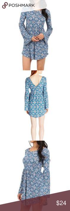 NWOT O'neill Juniors blue long sleeve dress Never worn before. Junior's size medium but fits like a women's medium. O'Neill Dresses Long Sleeve