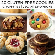 20 gluten-free cookies that you'll want to inhale! There are all kinds of gluten-free recipes here including grain-free, dairy-free and vegan options. If you're looking…