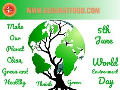 Make Our #Planet #green #Clean & #Healthy, Think Green, Save #Earth,Taking care of the environment is not an obligation – our environment is our life.#WorldEnvironmentDay  We are selling Gujarat's Top and Popular Food #Brands #products #snacks #namkeen #Sweets #Khakhra #Farshan #masala #mukhvas  Shipping available in #India, #USA, #UK, #Singapore, #Australia, #Canada Like us on: Facebook: Gujaratfood.com Follow us on: Instagram: Gujaratfood1511 Follow us on: Twitter : GujaratFood1…