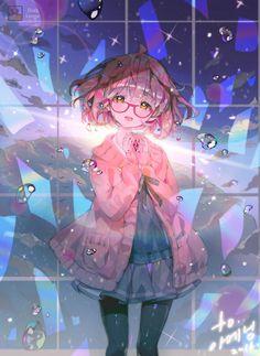 栗山未来ちゃんです。 ツイッターのrtイベントで描いてあげた絵です :)         p.s- コメントありがとうございます。 コメントを見て考えて出たが 眼鏡を使っていない未来