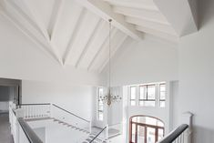 Clean, crisp white finishes in entrance gallery
