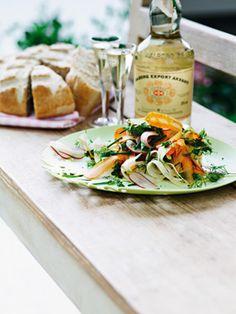 Speltbrød med sprød salat