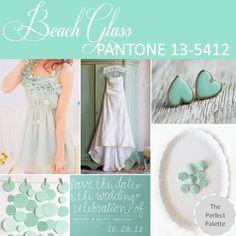 PANTONE: Beach Glass 13-5412 http://www.theperfectpalette.com/2012/10/pantone-palette-beach-glass-13-5412.html#