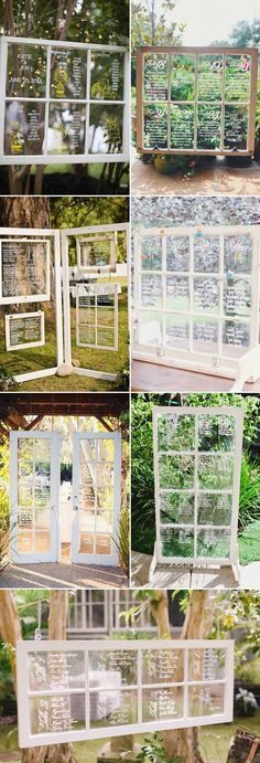 27 Creative Seating Chart Ideas Your Guests Will Love - Windows & Doors