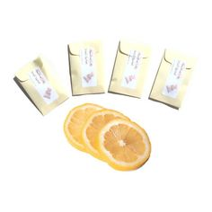 4 Fresh Lemon Scented Sachets  DIY Yellow by pebblecreekcandles, $12.00