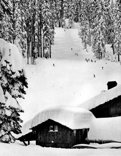 Badger Pass Yosemite, California Ski House by Ansel Adams Photography