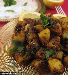 Jeera Aloo - Cumin potatoes served with raita
