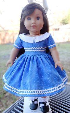 18 Doll Clothes 1950's Style Polka-Dot Dress by Designed4Dolls