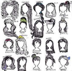 girls and their hair