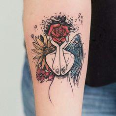 Image about art in Tatuagem/Tatto by Anna Clara Skull Tattoos, Body Art Tattoos, New Tattoos, Girl Tattoos, Tatoos, Tattoo Art, Sleeve Tattoos, Bad Tattoo, Get A Tattoo