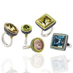 Alice Cicolini's brightly coloured and eye-catching rings