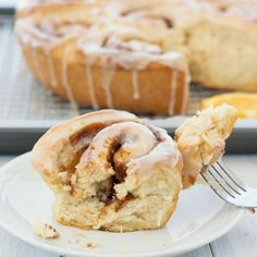 Orange Cinnamon Rolls:  with a secret method that gets these rolls on the table quicker than usual.