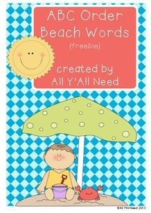 ABC Beach - Pinned by @PediaStaff – Please Visit ht.ly/63sNtfor all our pediatric therapy pins