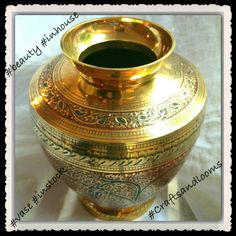 #craftsandlooms #vase #handmade #homedecor #handmadegift #handmadegoods #handmadecrafts #handmadewithlove #brass #india  #indianart #brasscraft - a Beautiful handmade brass vase to add glitter to your style and living. Instock now. Bulk orders ready - creative@craftsandlooms.com