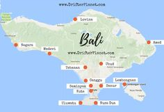 Bali Map - Where to stay in Bali