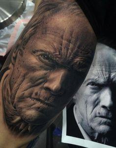 http://www.tattooesque.com/clint-eastwood-portrait/