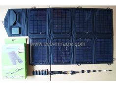Solar panel output Foldable easy to carry saving shipping cost Good quality life-span Dual output port , can charge laptop and mobile phone. Goods match with laptop plugs and mobile phone plugs, easy to use . Solar Charger, Solar Battery, Solar Led Lights, Solar Panels, Laptop, 10 Years, Solar Products, Phone, Life