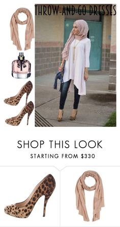 """throw-&-go"" by haleena9alsairy ❤ liked on Polyvore featuring Christian Louboutin, Ermanno Scervino and easydresses"