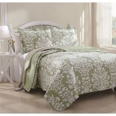 Danneli 3-piece Floral Quilt Set - Overstock™ Shopping - Great Deals on Quilts