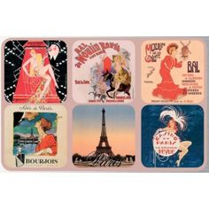Drink coasters set of 6 assorted french vintage advertising posters: casino de paris Vintage Advertising Posters, Vintage Advertisements, Vintage Posters, Casino Theme Parties, Party Themes, Paris Casino, Yellow Summer Squash, Juice Drinks, Fun Snacks For Kids