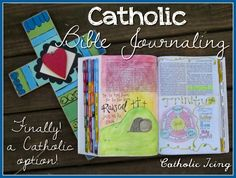 Catholic bible journaling- a bible option Catholic Bible, Catholic Crafts, Catholic Religion, Catholic Quotes, Teaching Religion, Religion Activities, Bible Study Journal, Scripture Study, Catechist