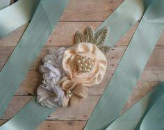 Marco de la niña de las flores: marco faja de por CubbyCreations