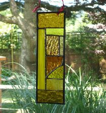 stain glass panel great design but I would use different colours!