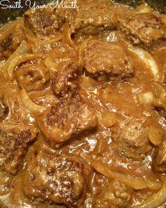 Smothered Salisbury Steak Tips