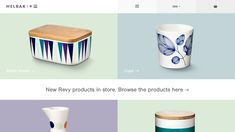 Helbak Ceramics - Site of the Day March 11 2015 http://helbak.com/collections/butter-boxes