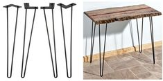 28-Inch I-Semble Hairpin Table Legs, 4-Pack