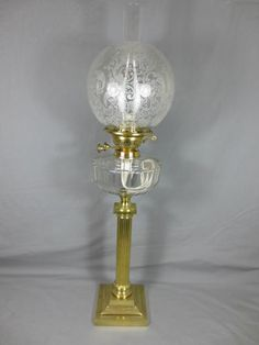 Superb Antique Victorian Duplex Oil Lamp Complete with Original Shade | eBay
