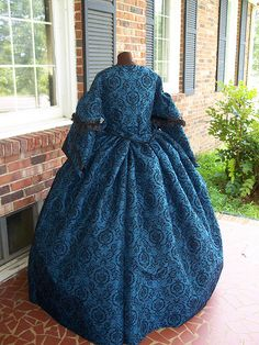 plus size carriage styled civil war dress