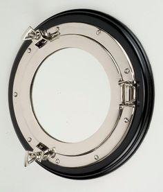 nautical mirror - on door to reflect light