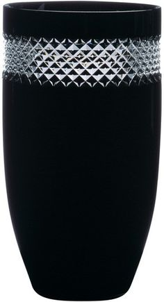 Waterford Crystal John Rocha Black Cut Vase