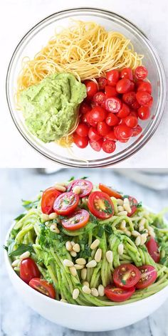Spinach and Avocado Pasta Recipe – This vegan pasta recipe is so satisfying in all the feel-good ways. It is so creamy, filly, fresh, and flavorful. Super easy to make and even the kids will love it. Recipes for 1 VEGAN SPINACH AVOCADO PASTA RECIPE Tasty Videos, Food Videos, Healthy Snacks, Healthy Eating, Healthy Recipes, Dinner Healthy, Clean Eating, Keto Recipes, Breakfast Healthy