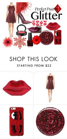 """#glitterlips"" by lauraoblauraob ❤ liked on Polyvore featuring beauty, Lulu Guinness, Love, Nickie Lew, Chiara Ferragni, Burberry, Pat McGrath, MAC Cosmetics and OPI"