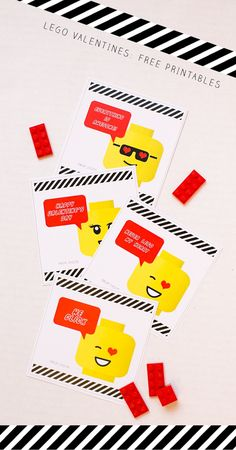 Lego Valentines: Free Printables for Classroom Valentine Cards