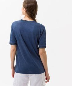 Style Cathy, indigo - Leinenshirt in femininer Optik - brax.de Indigo, Shirts, Mens Tops, Style, Fashion, Summer Days, Women's, Swag, Moda