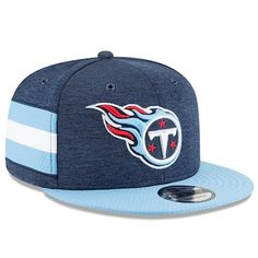 release date: 541d8 81351 Youth New Era Navy Blue Light Blue Tennessee Titans 2018 NFL Sideline Home 9FIFTY  Snapback