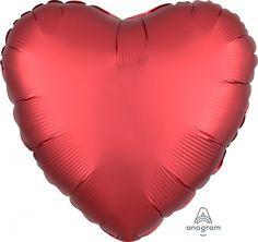Folienballon in Herzform, ca. 43 cm Durchmesser.