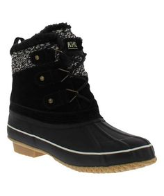 Khombu Black Keri Duck Boot - Women   Best Price and Reviews   Zulily Cold Weather Boots, Duck Boots, Amazing Women, Color Pop, Booty, Flats, Best Deals, Closet, Products