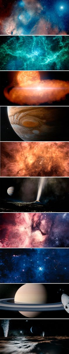 """""""To make this journey, we'll need imagination, but imagination alone is not enough, because the reality of nature is far more wondrous than anything we can imagine.""""  -  These are just a few of the beautiful visual effects from Cosmos: A Spacetime Odyssey"""