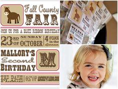 county fair party ideas/printables