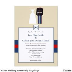 Marine corp wedding 5x7 marine corp dress blues wedding invitation marine wedding invitation stopboris Image collections